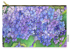 Hydrangea Purple Blue Carry-all Pouch