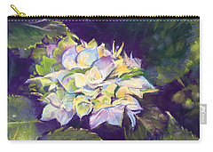 Hydrangea Carry-all Pouch by Rebecca Matthews