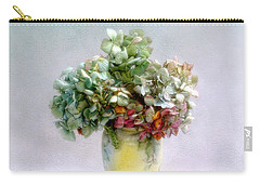 Hydrangeas In Autumn Still Life Carry-all Pouch