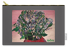 Hydrangeas In Red Vase Carry-all Pouch