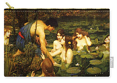 Hylas And The Nymphs Carry-all Pouch by Pg Reproductions