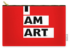 I Am Art Stripes- Design By Linda Woods Carry-all Pouch