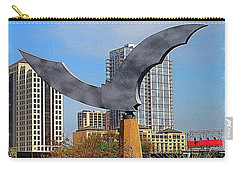 I Am #batty About #austin Carry-all Pouch by Austin Tuxedo Cat