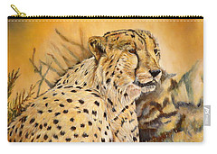 I Am Cheetah Carry-all Pouch by Marilyn  McNish