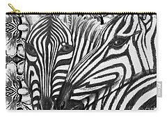I Am So Into You Zebra Love Carry-all Pouch