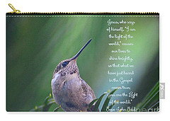 Carry-all Pouch featuring the photograph I Am The Light Of The World by Debby Pueschel