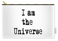 Carry-all Pouch featuring the digital art I Am The Universe - Cosmic Universe Quotes by Ai P Nilson