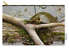 Carry-all Pouch featuring the photograph I Am Turtle, Hear Me Roar by Sean Griffin