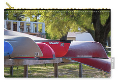 Carry-all Pouch featuring the photograph I Believe I'll Go Canoeing by Cindy Lark Hartman