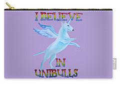 Carry-all Pouch featuring the painting I Believe In Unibulls by Jindra Noewi