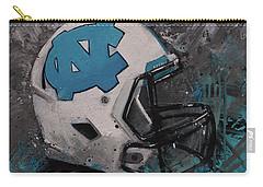 I Bleed Carolina Blue Tarheel Wall Art Football Helment Carry-all Pouch