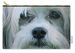 I Can Explain - Dog Mania Print Carry-all Pouch by Ella Kaye Dickey
