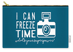 Carry-all Pouch featuring the photograph I Can Freeze Time by Heather Applegate