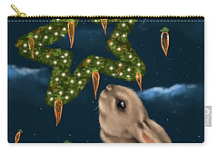 Carry-all Pouch featuring the painting I Can Smell The Christmas In The Air by Veronica Minozzi