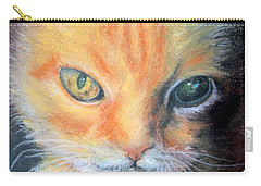 Carry-all Pouch featuring the pastel I Can't Get You Out Of My Mind Rusty by Antonia Citrino