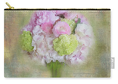 Carry-all Pouch featuring the painting I Dream Of Bouquets by Colleen Taylor