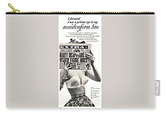 Carry-all Pouch featuring the digital art I Dreamed I Was  Private Eye In My Maidenform Bra by Reinvintaged