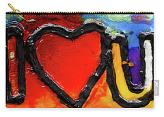 Carry-all Pouch featuring the painting I Heart You by Genevieve Esson
