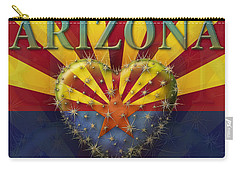 I Love Arizona Flag Carry-all Pouch
