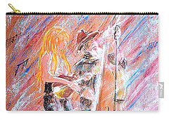 Carry-all Pouch featuring the painting I Love Bluegrass by Bill Holkham