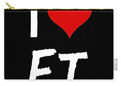 Carry-all Pouch featuring the digital art I Love E.t. by Gina Dsgn