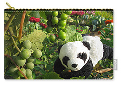 Carry-all Pouch featuring the photograph I Love Grapes B by Ausra Huntington nee Paulauskaite