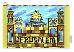 I Love Jerusalem Carry-all Pouch