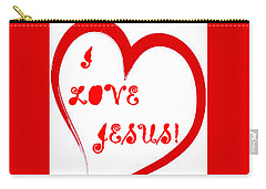 I Love Jesus Carry-all Pouch