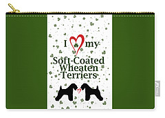 I Love My Soft Coated Wheaten Terriers Carry-all Pouch by Rebecca Cozart