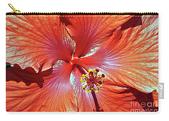 I Love Orange Flowers 2 Carry-all Pouch by Lydia Holly