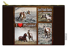 I Love Picasso Collage Carry-all Pouch by Nadja Rider