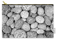 I Love Stones Black And White Carry-all Pouch by Kathi Mirto