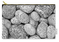 I Love Stones II Black And White Carry-all Pouch by Kathi Mirto