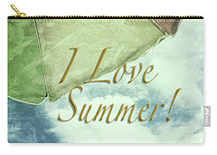 I Love Summer I Carry-all Pouch by Marianne Campolongo