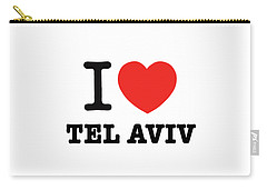 Carry-all Pouch featuring the photograph i love Tel Aviv by Ron Shoshani