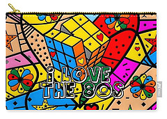 i love the 80s Popart by Nico Bielow Carry-all Pouch by Nico Bielow
