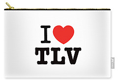 Carry-all Pouch featuring the photograph i love TLV by Ron Shoshani