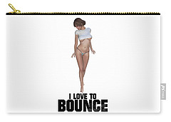 I Love To Bounce Carry-all Pouch