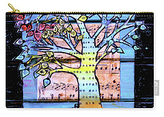 Carry-all Pouch featuring the painting I Love Trees by Genevieve Esson
