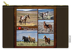 I Love Wild Horses Of Sand Wash Basin Carry-all Pouch