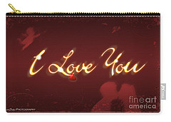 I Love You Greeting Card Carry-all Pouch