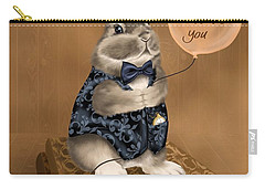 Carry-all Pouch featuring the painting I Love You by Veronica Minozzi