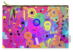 Carry-all Pouch featuring the digital art I Once Was Happy by Silvia Ganora