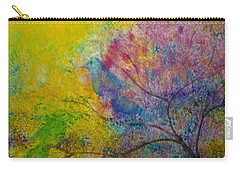 Carry-all Pouch featuring the painting I See Birds by Claire Bull