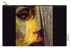 Carry-all Pouch featuring the digital art I See Everything  by Rafael Salazar