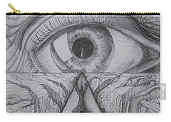 Carry-all Pouch featuring the drawing I Shadow by Charles Bates