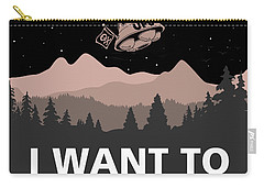 Carry-all Pouch featuring the digital art I Want To Believe by Gina Dsgn
