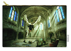 Carry-all Pouch featuring the digital art I Want To Brake Free by Nathan Wright