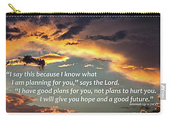 I Will Give You Hope Carry-all Pouch by Kirt Tisdale