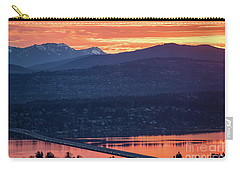 I90 Eastside Sunrise Fire Carry-all Pouch by Mike Reid
